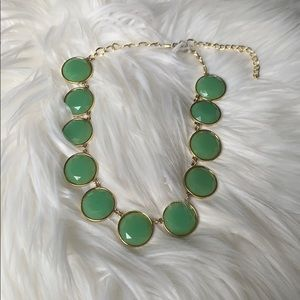 Francesca's green and gold necklace